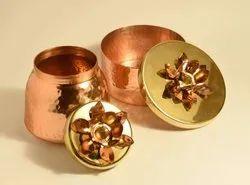 Christmas Metal Gift Jar For Dry Fruits