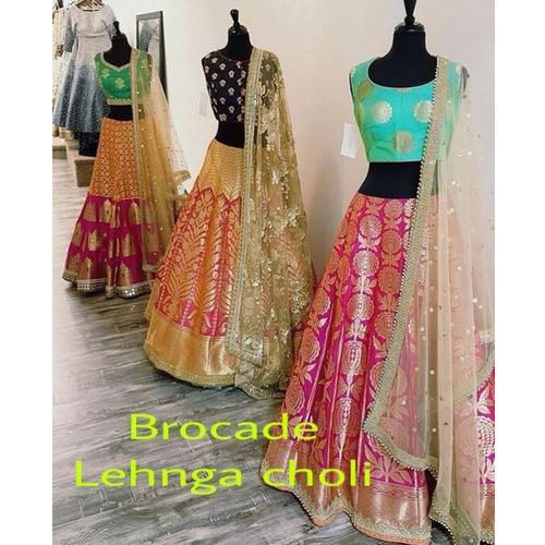 3f7301511 Brocade Party Wear Lehenga Choli, Rs 11000 /piece, Pandit G Fabric ...
