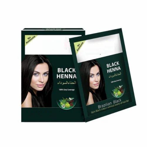 Green Shagun Gold Popular 100 Coverage Black Henna Sachet Usage