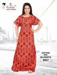 Rishika Cotton XXL Nightgown