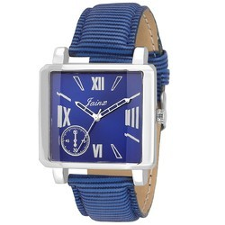Square Blue Men Wrist Watch