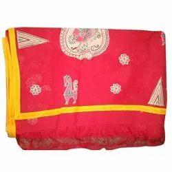 Ladies Handloom Applique Silk Saree