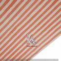 Pink Stripe Hand Block Print Jaipuri Cotton Fabric