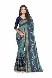Chitrakshi Stylish Casual Wear Chiffon Saree, 5.5 m (separate blouse piece)