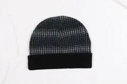 Black Winter Woolen Cap