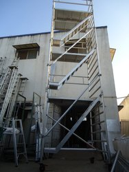 Aluminum Double Width 3 Staircase Scaffolding Tower