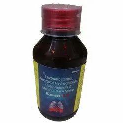 Levosalbutamol Ambroxol Hydrochloride Guaiphenesin Menthol Syrup