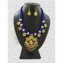 Oxidized German Gold Thread Necklaces Set