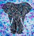 Elephant Mandala Printed Cotton Double Bed Sheet