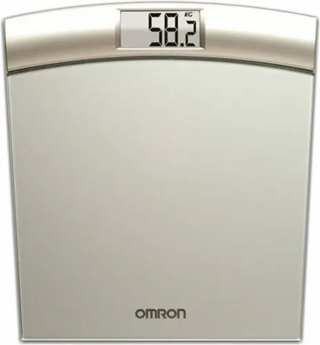 Sliver 150 Kg OMRON WEIGHT SCALE HN-283, For Guide