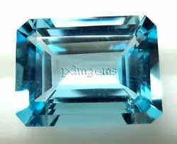 Sky Blue Topaz Faceted Octagon Cut Gemstone