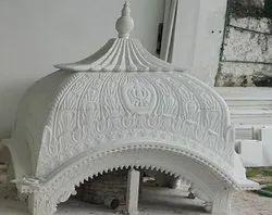 Indoor White Marble Palki Tomb, for INDOOR