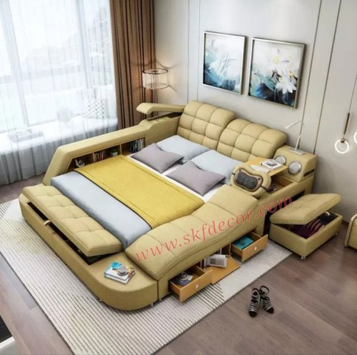 Leatherite Smart Bed, Smart Bed Queen Size