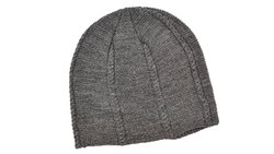 Grey Casual Woolen Cap