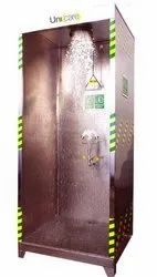 S-Safe Stainless Steel 304 Or 316 Cabinet Safety Shower With Eyewash