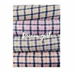 Checked Rayon Fabric