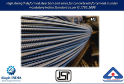 ISI Mark Certification for High Strength Deformed Steel Bars and Wires for Concrete Reinforcement