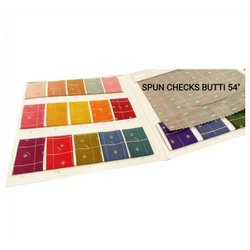 Spun Checks Butti Fabric