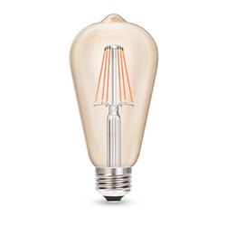 Warm White Wipro Garnet 8W Filament Gold ST64 LED Bulb