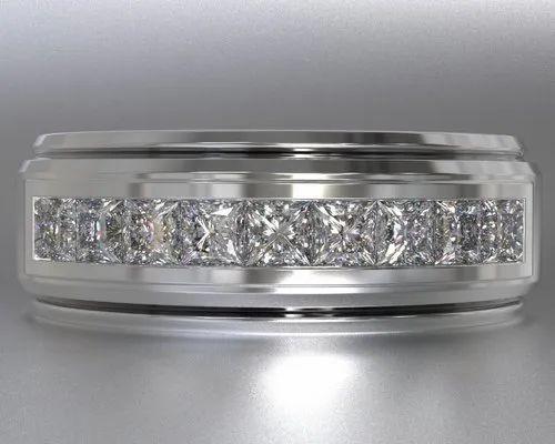 Moissanite Men's Band Moissanite Ring Designer Moissanite Wedding ...