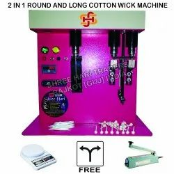 Round and Long Cotton Wick Making Machine (2 in 1)