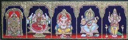 5 Panel Tanjore Painting