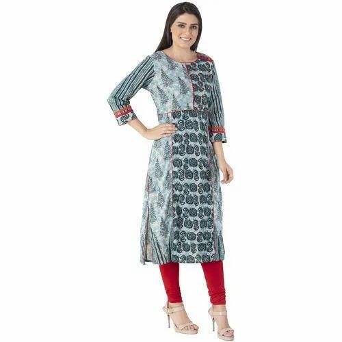 Straight Plain Jaipuri Cotton Kurti