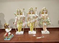 Shri Ram Darbar Marble Statue