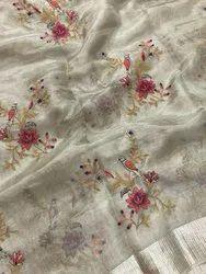 Tissue Silk Saree, Length: 6.3 m