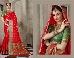 Red Color Rapier Silk Saree