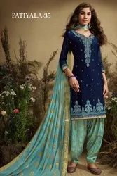 Designer Jacquard Patiyala Suits