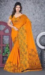 Ligalz Presents New Georgette Satin Patta Saree