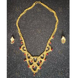 Golden Mani Exim Ladies Brass Artificial Necklace Sets
