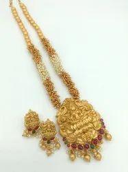 D12000 Matte Finish Temple Jewellery Set