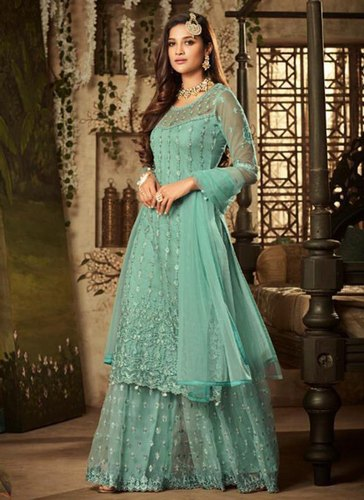 537a5839c8 Net Eid Special Sharara Salwar Suits, Packaging Type: International Box