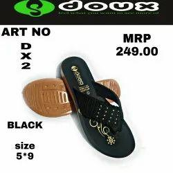 Daily Wear Black Footwear, Size: 7