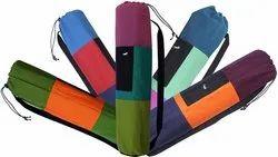 Multicolor Multi Ryan Overseas Cotton Yoga Mat bag, Polybag