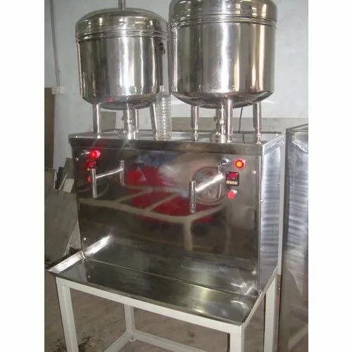Stainless Steel 2 Nozzle Bottle Filling Machine, For Industrial