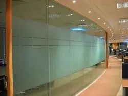 Lacquered Glass Office Glass Partition