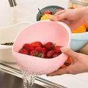 Rice Bowl, Rice Strainer Bowl, Washing Bowl Strainer   4 in 1 Peeler-Rice bowl