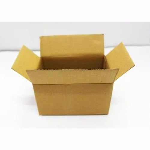 Rectangular 6x4x3.5 Inch Brown 3 Ply Packaging Corrugated Box