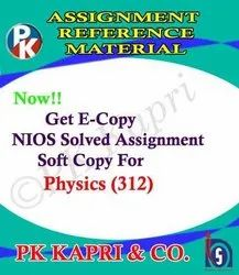 Physics (312)- Nios Solved Assignment for 12th Class- 2021 October Exam