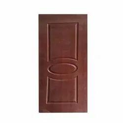 Brown 2 Pannel Ovel Regular Single Side Flush Door, For Home, Size/Dimension: 30 X 78 Inch