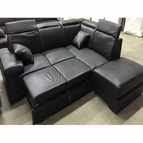 Leather Convertible Sofa Bed