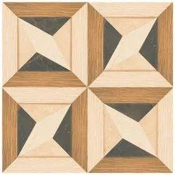 Matte Brown Designer Floor Tiles, Thickness: 10 mm, Size: 600x600 mm