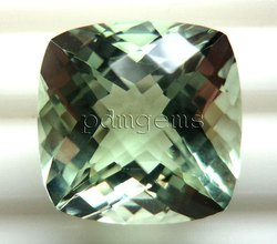 Green Amethyst Faceted Gemstone