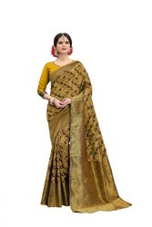Banarasi Silk Sunflower Weaving Party Wear Traditional Wedding Wear Saree
