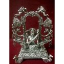 Silver Decorative Saraswati Statue