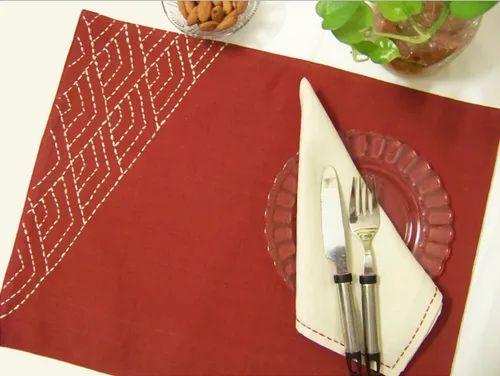 Red Dining Mat And Napkin Mat008 Size Mats 12 X 16 Napkin