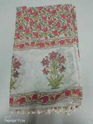 Block Printed Cotton Ladies Stole